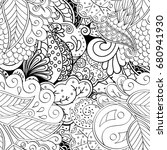 tracery seamless pattern.... | Shutterstock .eps vector #680941930