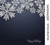 christmas new year greeting...   Shutterstock . vector #680944090
