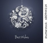 christmas new year greeting... | Shutterstock . vector #680944114