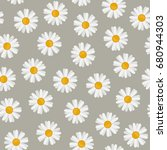 daisy seamless pattern....   Shutterstock .eps vector #680944303