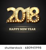 the 2018 new year count symbol... | Shutterstock .eps vector #680945998