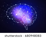 concept of human intelligence... | Shutterstock . vector #680948083
