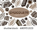 hand drawn doodle cocoa and... | Shutterstock .eps vector #680951323