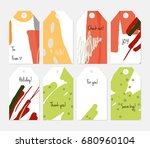 hand drawn creative tags.... | Shutterstock .eps vector #680960104