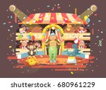 stock vector illustration... | Shutterstock .eps vector #680961229