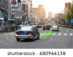 smart car  hud  and autonomous... | Shutterstock . vector #680966158