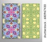 vertical seamless patterns set  ...   Shutterstock .eps vector #680967430
