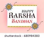 happy  raksha bandhan... | Shutterstock .eps vector #680984383