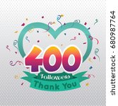 thank you design template for... | Shutterstock .eps vector #680987764