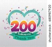 thank you design template for... | Shutterstock .eps vector #680987920