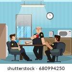 vector illustration in a flat... | Shutterstock .eps vector #680994250
