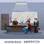 vector illustration in a flat... | Shutterstock .eps vector #680994724