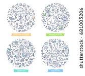 doodle vector concepts of... | Shutterstock .eps vector #681005206