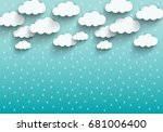 monsoon season background with... | Shutterstock .eps vector #681006400