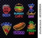 neon food and drink billboards | Shutterstock .eps vector #681008404