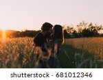 couple in love  summer love ... | Shutterstock . vector #681012346