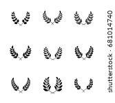 greek ornate elements for... | Shutterstock .eps vector #681014740