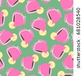 seamless teapots | Shutterstock .eps vector #681028540