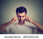 thoughtful sad young man... | Shutterstock . vector #681033136
