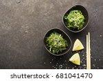 salad chukka from seaweed... | Shutterstock . vector #681041470