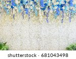 wedding backdrop with flower... | Shutterstock . vector #681043498
