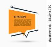 quote speech bubble  blank... | Shutterstock .eps vector #681046750