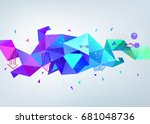 raster copy.  abstract colorful ... | Shutterstock . vector #681048736