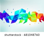 raster copy.  abstract colorful ... | Shutterstock . vector #681048760