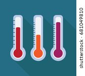 thermometer. instruments... | Shutterstock .eps vector #681049810