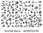 crystals  gems rocks and stones ... | Shutterstock .eps vector #681051676
