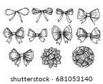 bow  ribbon illustration ... | Shutterstock .eps vector #681053140