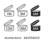 expiration date after product... | Shutterstock .eps vector #681056023