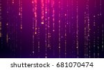 abstract slick elegant festive... | Shutterstock . vector #681070474