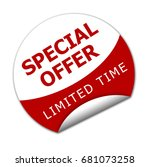 special offer for limited time... | Shutterstock . vector #681073258