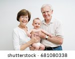 grandparents with baby grandson | Shutterstock . vector #681080338