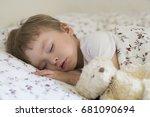 sweet baby sleeping in the... | Shutterstock . vector #681090694