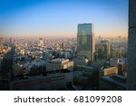 panorama of chuo special ward ... | Shutterstock . vector #681099208