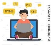 vector flat illustration of... | Shutterstock .eps vector #681099718