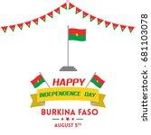independence day of burkina... | Shutterstock .eps vector #681103078