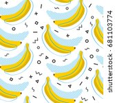 vector seamless pattern with... | Shutterstock .eps vector #681103774