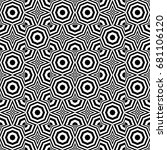 seamless pattern with black... | Shutterstock .eps vector #681106120