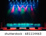 free stage with lights ... | Shutterstock . vector #681114463