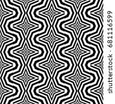 seamless pattern with black... | Shutterstock .eps vector #681116599