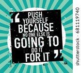 inspirational motivational...   Shutterstock .eps vector #681119740