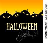 halloween card. vector image ... | Shutterstock .eps vector #681131950