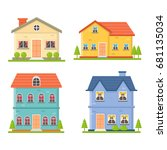 house collection   Shutterstock .eps vector #681135034