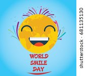 world smile day  october.... | Shutterstock .eps vector #681135130