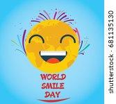 world smile day  october.... | Shutterstock .eps vector #681135130