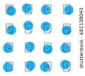 vector illustration of 16...