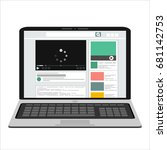 video marketing concept.... | Shutterstock .eps vector #681142753